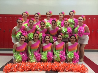 School colors work great for halftime, but the Hornet Danceline reminds us that you better bring creative color work to the competition floor